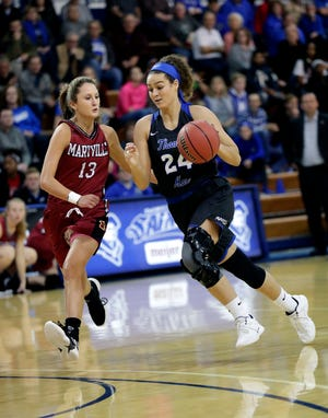 Madison Temple reached the 2,000-point career milestone this season.
