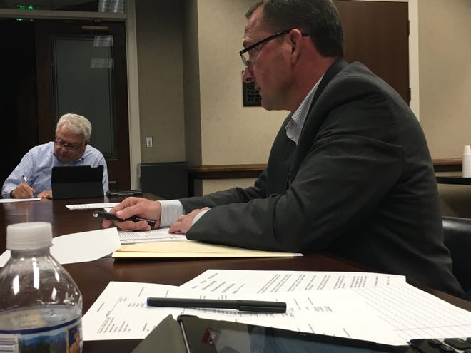 Montgomery County Sheriff John Fuson asks the county Budget Committee to get started on funding the county's Public Safety Training Complex, a nearly $5.8 million project.