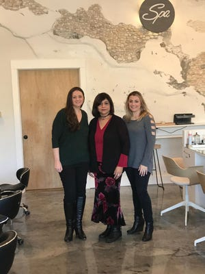 Sarika Sikand (center), Unity Bank SBA Business Development executive/vice president, with sisters Stacy Shiffner (left) and Samantha McCann, owners of the recently-opened Revive Spa in North Brunswick. Unity provided an SBA loan for the new business.