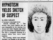 A story about a composite made in June 1980 in the Cedar Rapids killing, as seen in Des Moines Register archives.