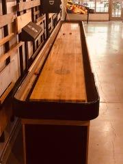 The 22-foot shuffleboard at Mac Shack.