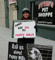 Mindi Callison during her first protest