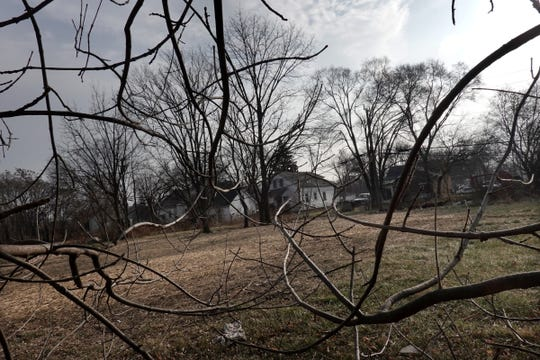 A home that once stood on this land at 14444 Flanders street in Detroit was recently demolished before being properly abated, potentially exposing residents to asbestos. Photographed on Wednesday, Dec. 12, 2018.