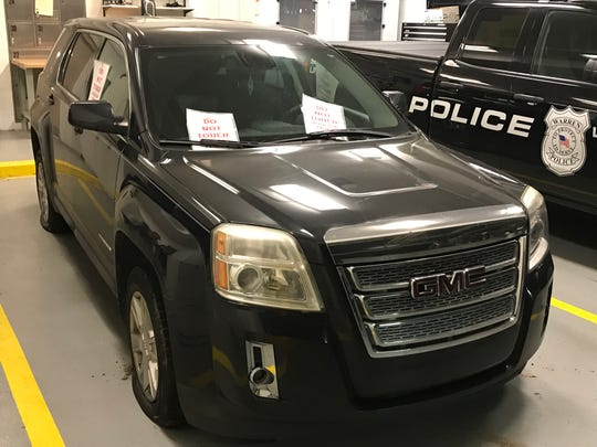 Vehicle taken from a 68-year-old Warren woman whose body was found slain in a trash bin in the garage at her home. Her grandson, 23, is believed to have taken the vehicle, which was found at a mall in Toledo, Ohio. He was arrested a motel in Toledo on Dec. 20, 2018.