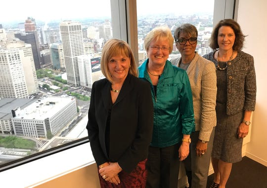 Deloitte's Michigan Board Ready Women program's steering committee members, from left: Leslie Murphy, president and CEO of Murphy Consulting Inc.; Nancy Schlichting, former CEO of Henry Ford Health System; Faye Nelson, Michigan Director, WK Kellogg Foundation and Lisa Payne, former vice chairman and CFO for Taubman Centers Inc.