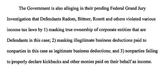 A lawyer for Mike Morse's friend Jayson Rosett revealed a focus of the federal investigation in a filing in the State Farm lawsuit last month.