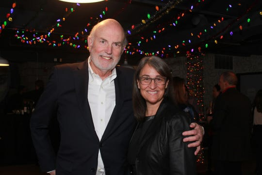 Peter Remington and Jaime Rae Turnbull at the anniversary celebration of JR Turnbull Communications.