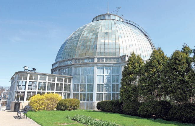 Families and friends enjoy the Conservatory, Aquarium and other outdoor attractions at Belle Isle Park.