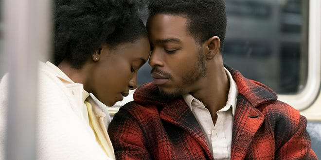 """KiKi Layne (left) and Stephan James in """"If Beale Street Could Talk."""""""