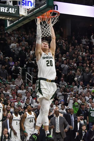 """""""Every year I've been here it's always been a challenging game,"""" says Michigan State  senior Matt McQuaid of Oakland."""