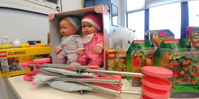 Pictured are some of the toys Poudre Fire Authority firefighters purchased for children through the Angel Tree program of the Salvation Army.
