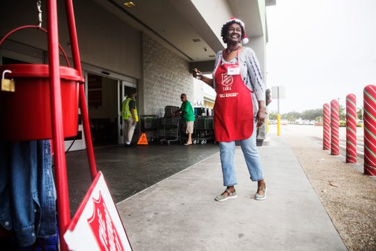 Francine Robinson is a bell ringer for the Salvation Army. She says she is ringing the bell because the Salvation Army helped her and her husband out of homelessness.