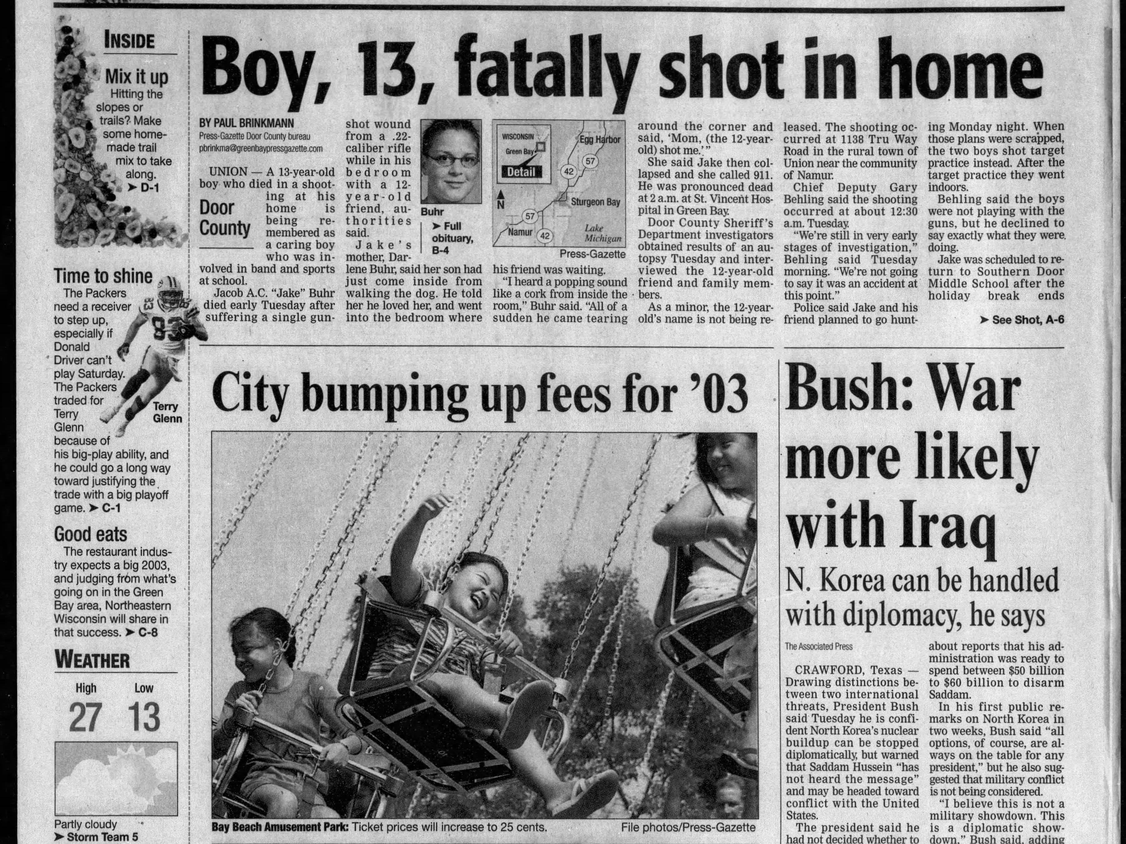Today in History: Jan. 1, 2003