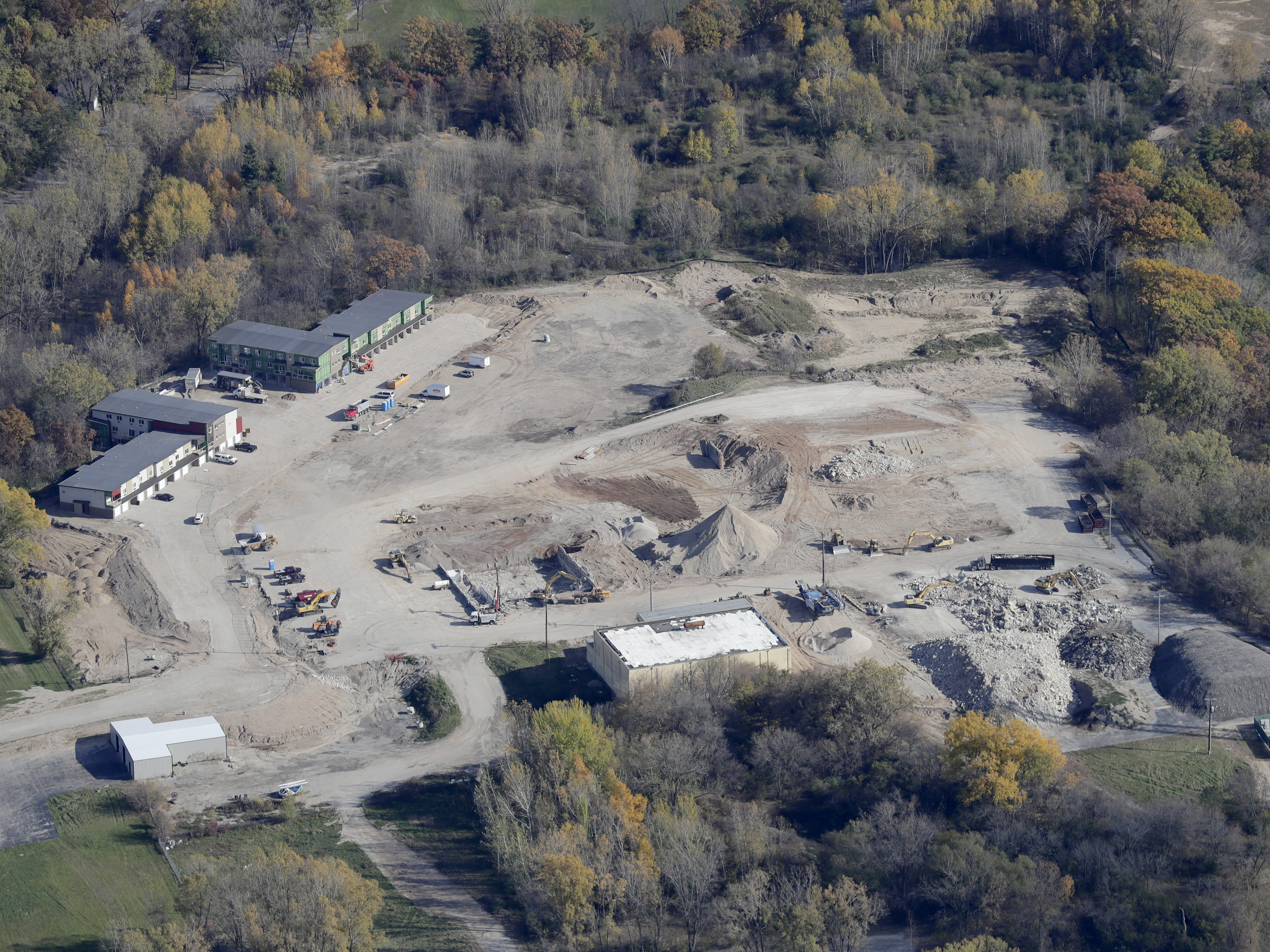 Development at the former Packerland Packing site  in Green Bay.