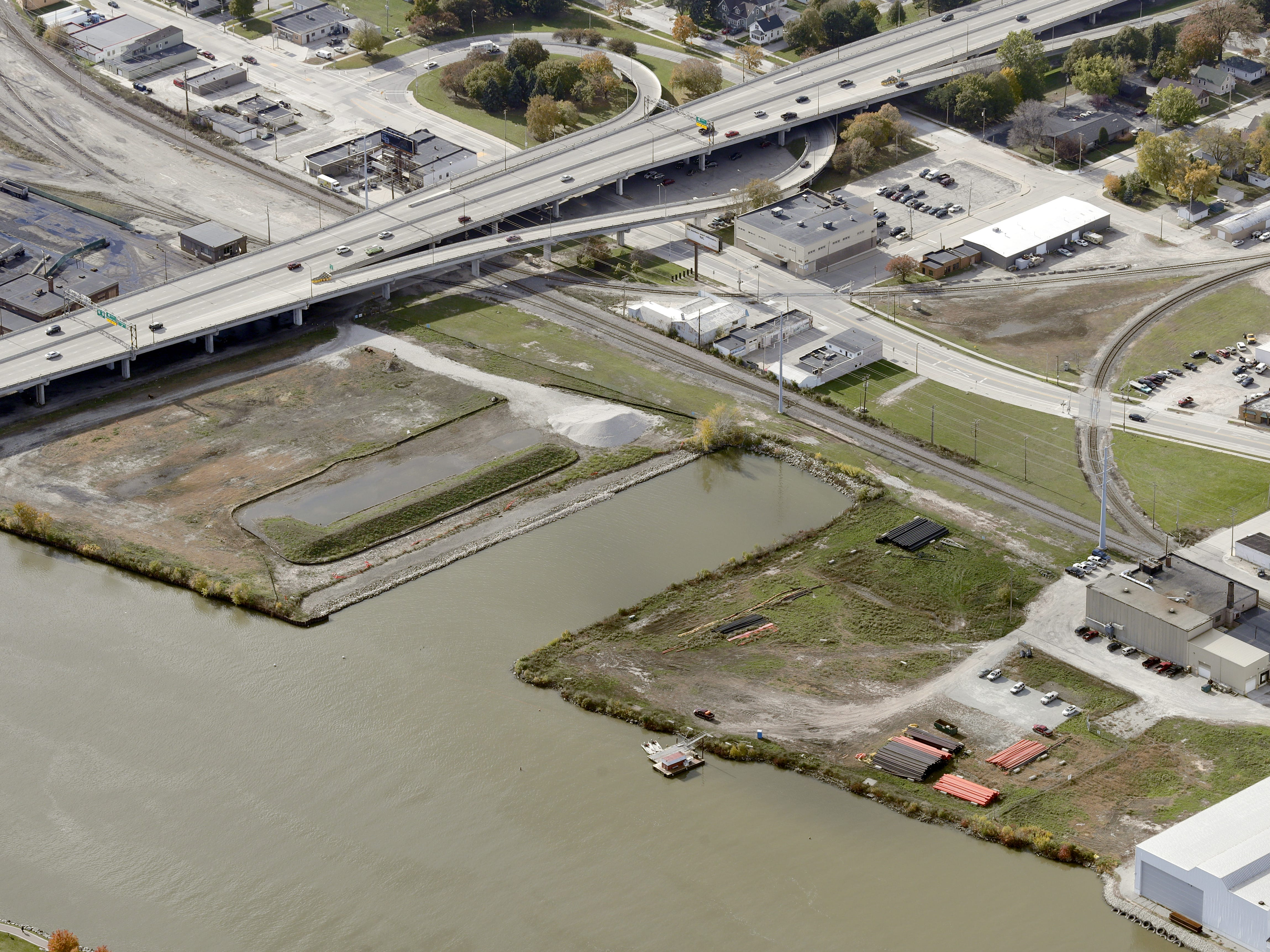 The Shipyard site in downtown Green Bay, future home to Breakthrough Fuels headquarters on the west bank of the Fox River