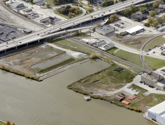 The Shipyard area, between South Broadway and the Fox River, will be developed into a park that includes a beer garden, container park, dog park and other recreational amenities. Merge Urban Development has now proposed a two-building, 225-unit apartment complex for the vacant land north of the inlet.