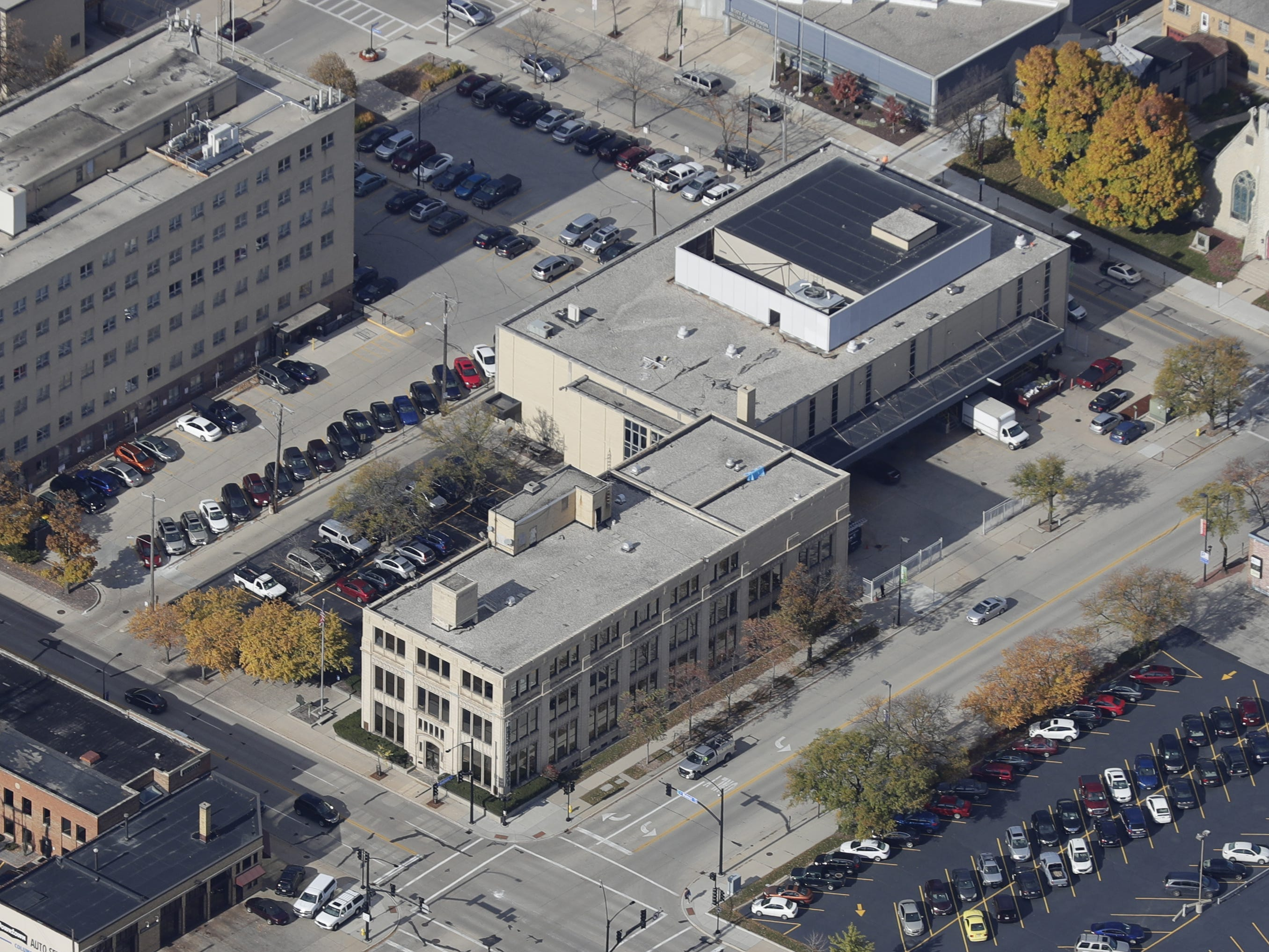 Green Bay Press-Gazette building and City Hall.