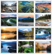 Stamps of rivers designated as wild and scenic.