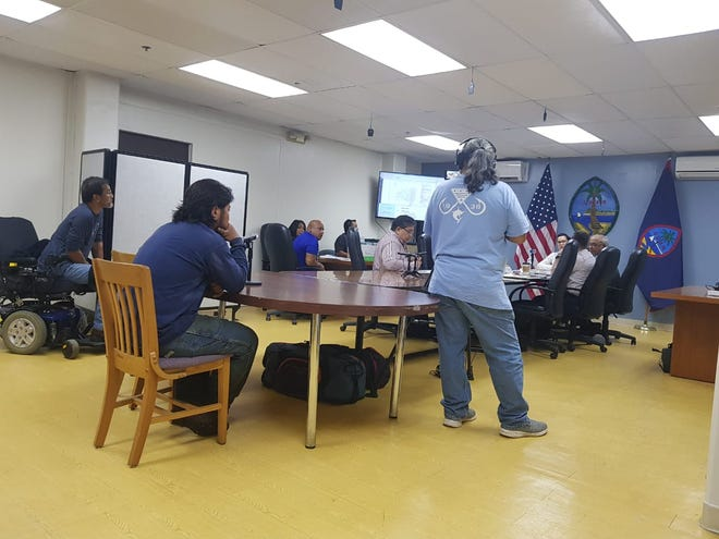 Paul Rosario appears before the Chamorro Land Trust Commission on Dec. 20, 2018 to request for utilities authorization.