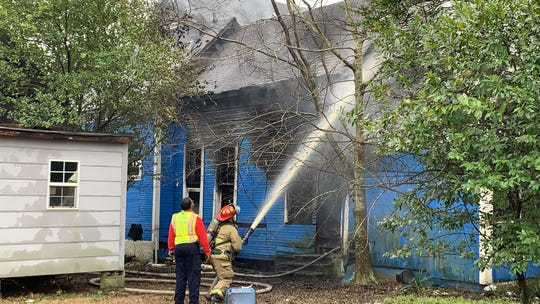 A fire broke out Thursday morning at a home on Gordon and East Second Streets in Hattiesburg. No one was believed to be in the home when the fire broke out.