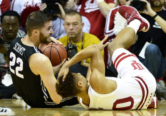 Freshman guard Rob Phinisee was forced to leave the game against Central Arkansas on Dec. 19, 2018, after taking a knee to the head. He was put into concussion protocol.