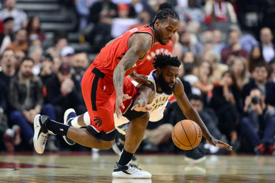 Kawhi Leonard's (left) load management strategy last season with the Toronto Raptors yielded the team a championship and may have sparked a league-wide trend of star players sitting out games to rest.