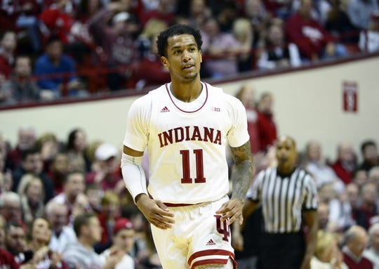 "Hoosiers guard Devonte Green was suspended indefinitely ""for not meeting the standards expected of members of the program."""