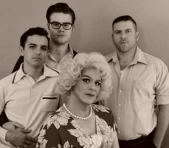 """From left, Joe Barsanti, Christian Condra, Lance Gray and Chris Saunders will star in Tennessee Williams' """"And Tell Sad Stories of the Death of Queens"""" for Be Out Loud Theatre's first production at the District Theatre."""