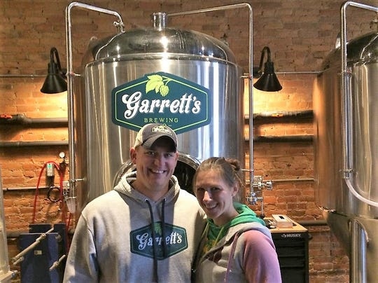 Greg and Crystal Garrett are the proprietors of Garrett's Brewing Co., the newest addition to Main Street businesses in Trumansburg.