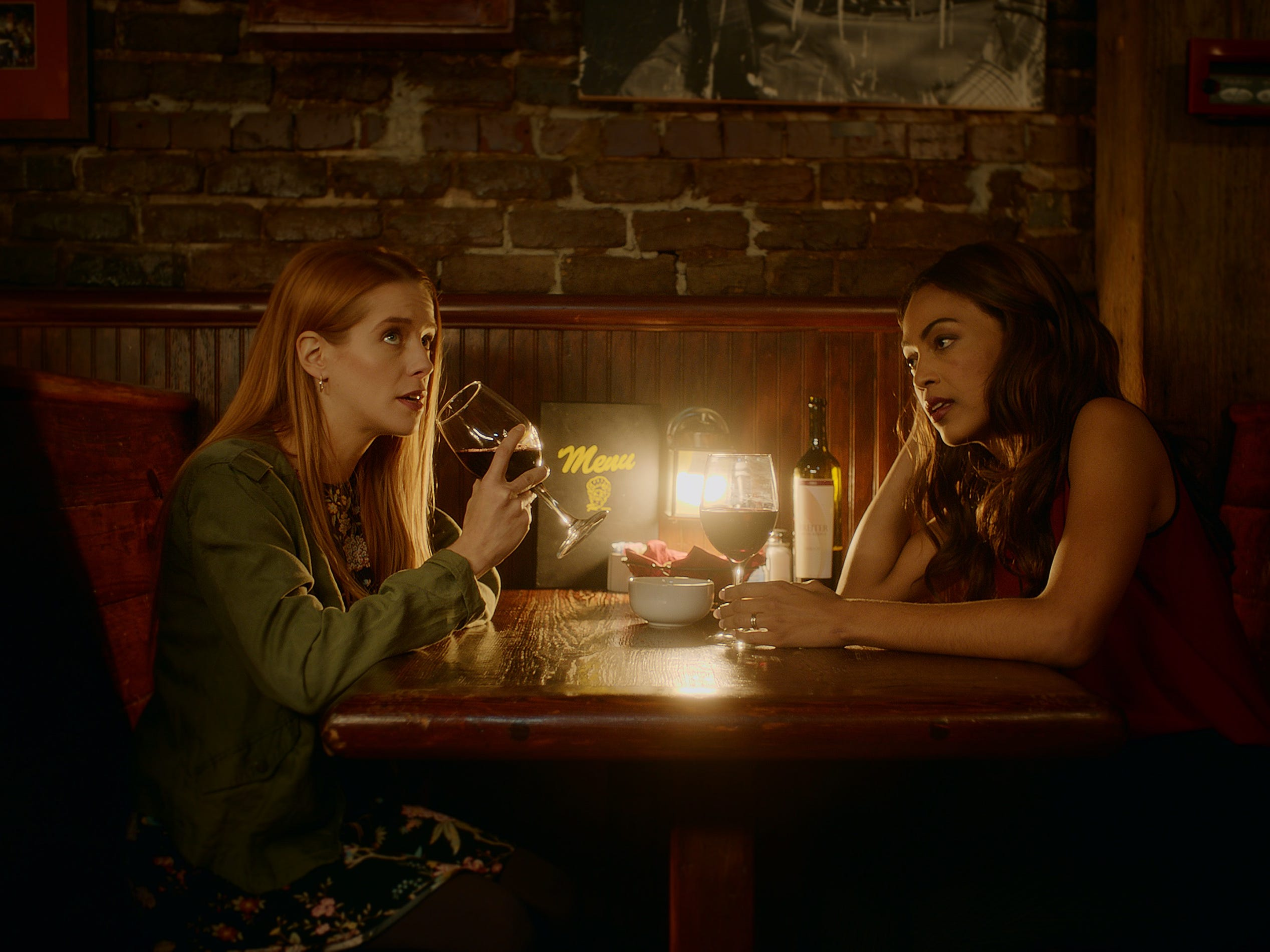 "Valerie Jane Parker and Christina Marie Karis star in ""No Time to Run,"" and this scene was filmed at Boyd's Jig & Reel in Knoxville."