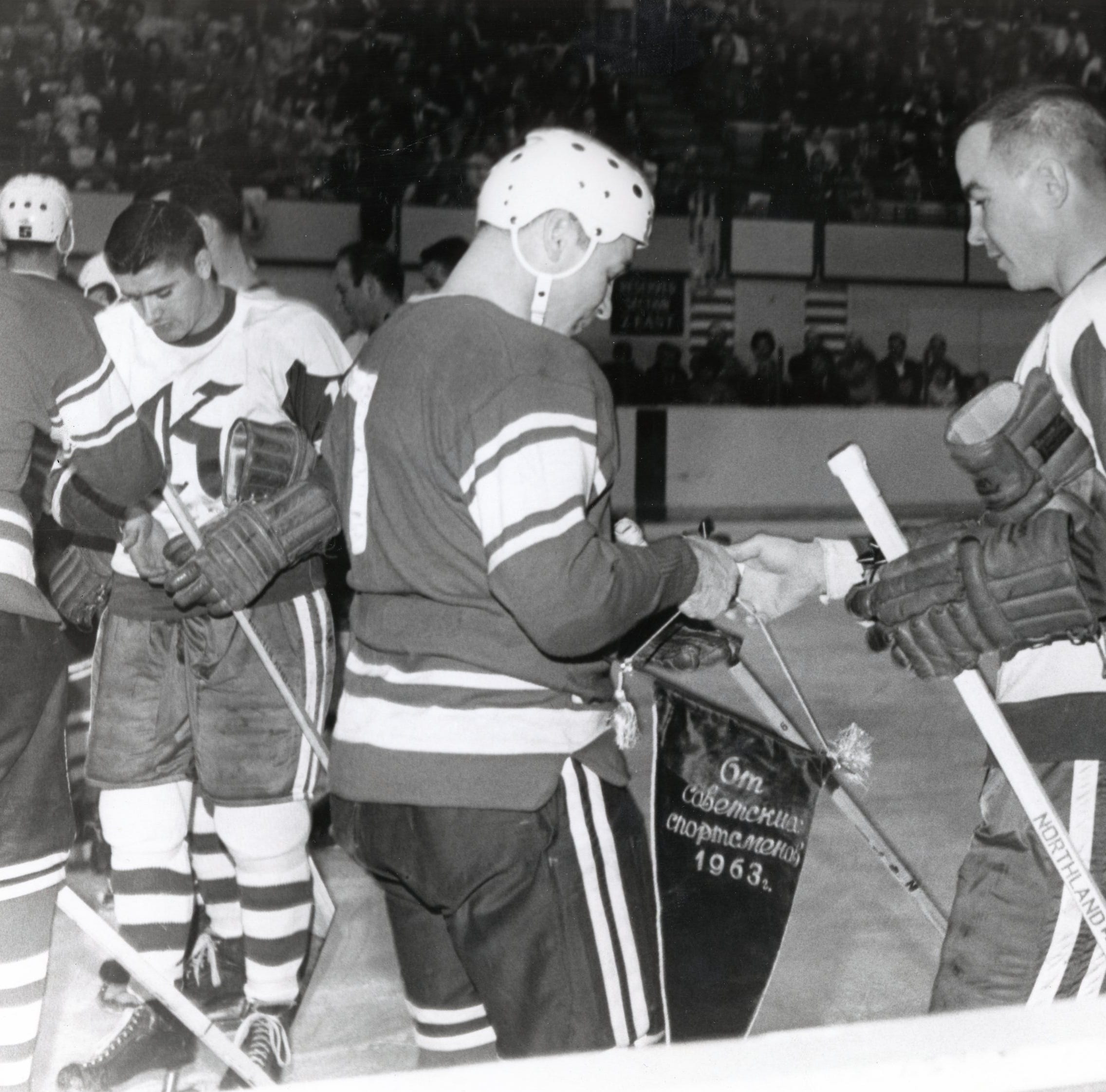 When the Knoxville Knights played the Soviets in 1963 hockey game