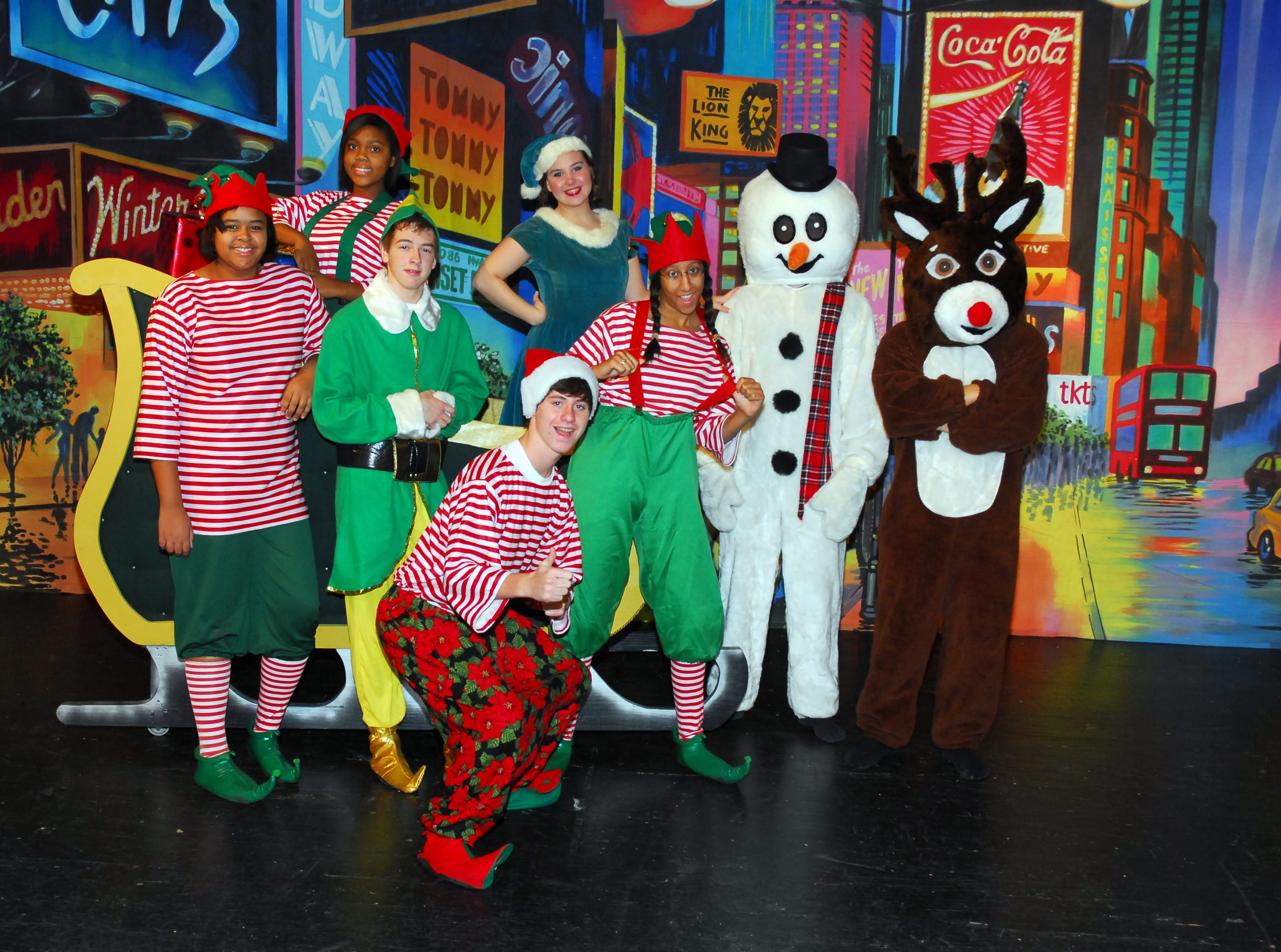 That's a wrap! Presents have been opened and Santa's helpers (like these Central High students from a 2010 Christmas musical) are heading back to rest up for next year.