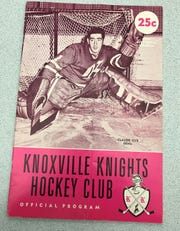 A copy of the 1962 Knoxville Knights hockey program.