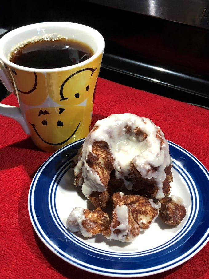 """Perk City coffee shop, to open in East Knoxville, will offer """"incredibites"""" pull apart cinnamon rolls made by co-owner Sherene Jacobs."""