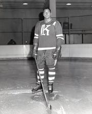 Don Labelle, coach of the Knoxville Knights hockey team, 1961.