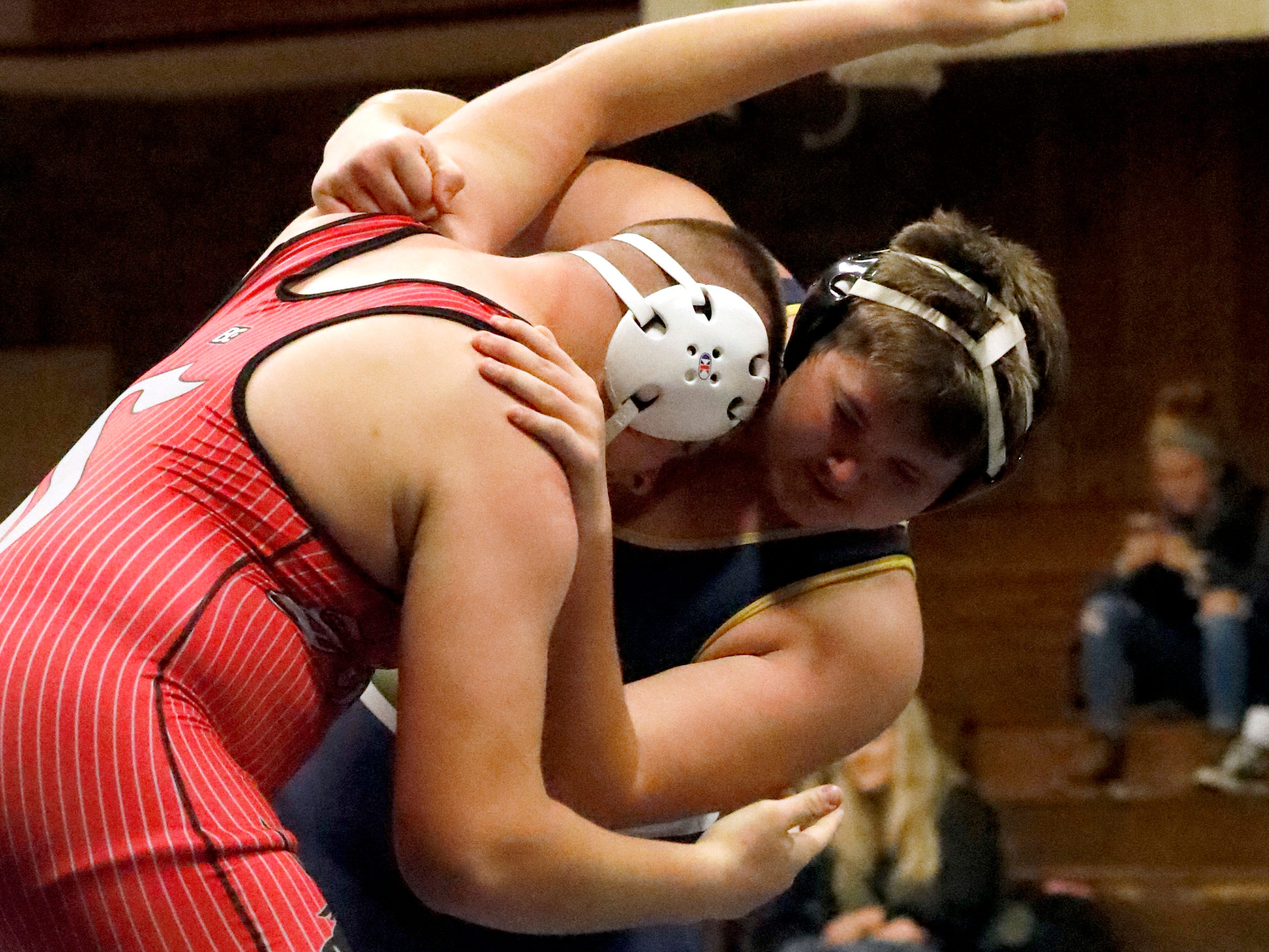 Lancaster defeated Sheridan Wednesday night, Dec. 19, 2018, during a wrestling dual at Stanbery School in Lancaster.