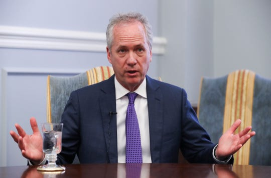 Mayor Greg Fischer spoke with the Courier Journal during a year end interview for 2018.  
