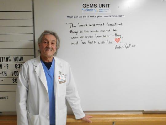 Dr. Blake Casher, medical director of Geropsychiatric Evaluation and Management Services (GEMS) at McLaren Orthopedic Hospital.