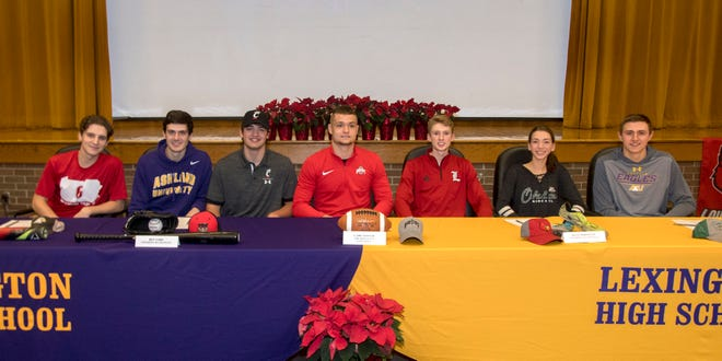 It was a banner Wednesday for seven Lexington athletes who signed with colleges in four different sports