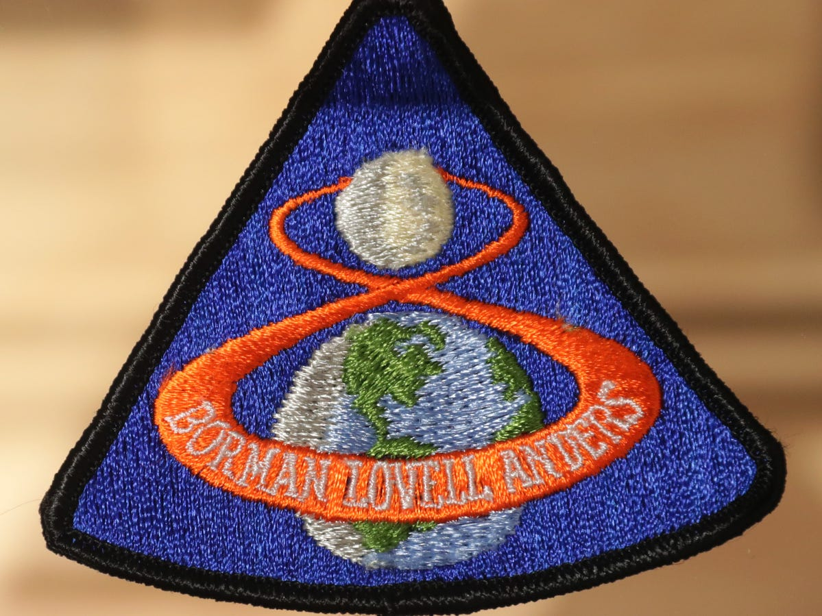 This fireproof patch was created for Apollo 8, the first manned lunar ortbital mission.