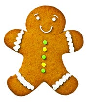 """For every child, he pulled a gingerbread cookie from his bag."""
