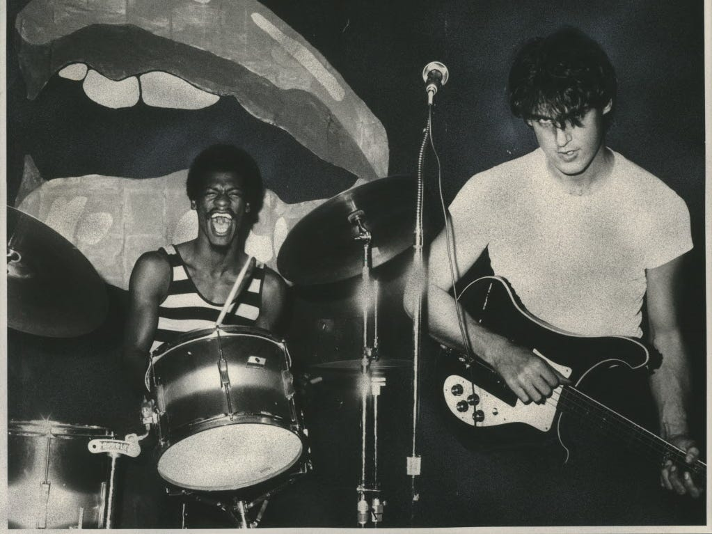LOCAL SHOW SPOTLIGHT: Some terrific songs recorded in 1985 by creative punk band Locate Your Lips, featuring the late Kenny Baldwin (left) and bassist and singer Andy Cavaluzzi, are being released Jan. 5 for the first time, along with some live radio performances. The album will be heard at a free listening party Saturday at Shank Hall.