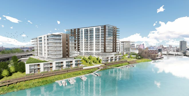 Wangard Partners Inc. wants to develop three buildings, with up to 253 condos, on a site overlooking the Milwaukee River.