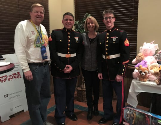 Paul Osen co-founded the Milwaukee Area Parrothead Association in 2000. He attended the club's 17th Winter Luau Toys for Tots Christmas Party with his wife,Patrice, Dec. 8, 2018.