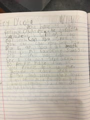 One young student opened up to Wisconsin safety D'Cota Dixon about being teased for his spelling.