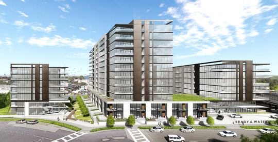 The condo development proposed for a site at North Water and East Brady streets includes plans for a 12-story building, along with two other buildings.