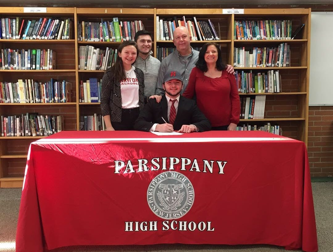 Parsippany senior Patrick Lanigan signed a National Letter of Intent with the University of Hartford lacrosse program.