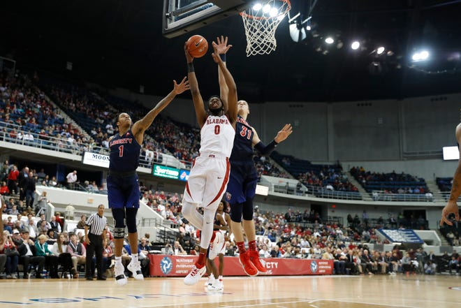 Alabama forward Donta Hall scored 21 points against Liberty on Dec. 18, 2018 in Huntsville.