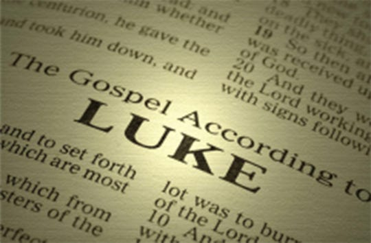 "Bruce Kuhn is presenting ""The Gospel of Luke"" at Alabama Shakespeare Festival in Montgomery."