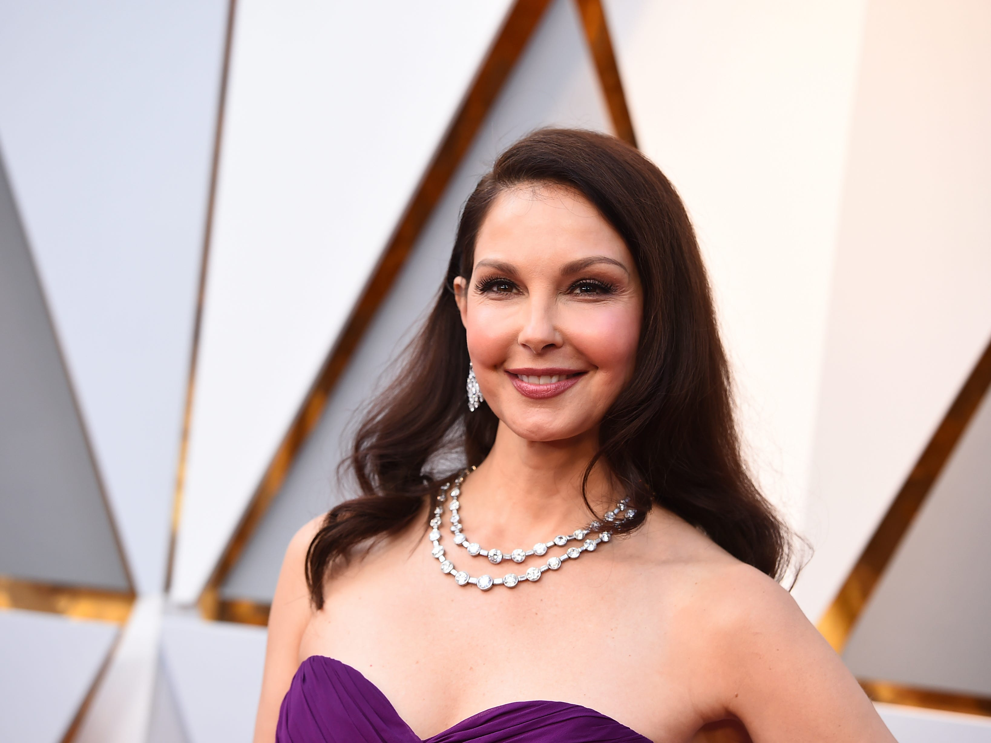 Ashley Judd arrives at the Oscars at the Dolby Theatre in Los Angeles.